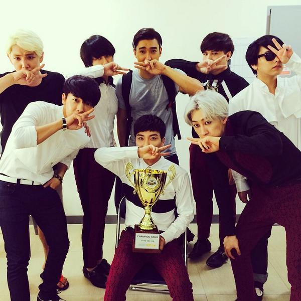 Super Junior won 1st place on Show Champion #MAMACITA1stWin http://t.co/yxE11X24Aq