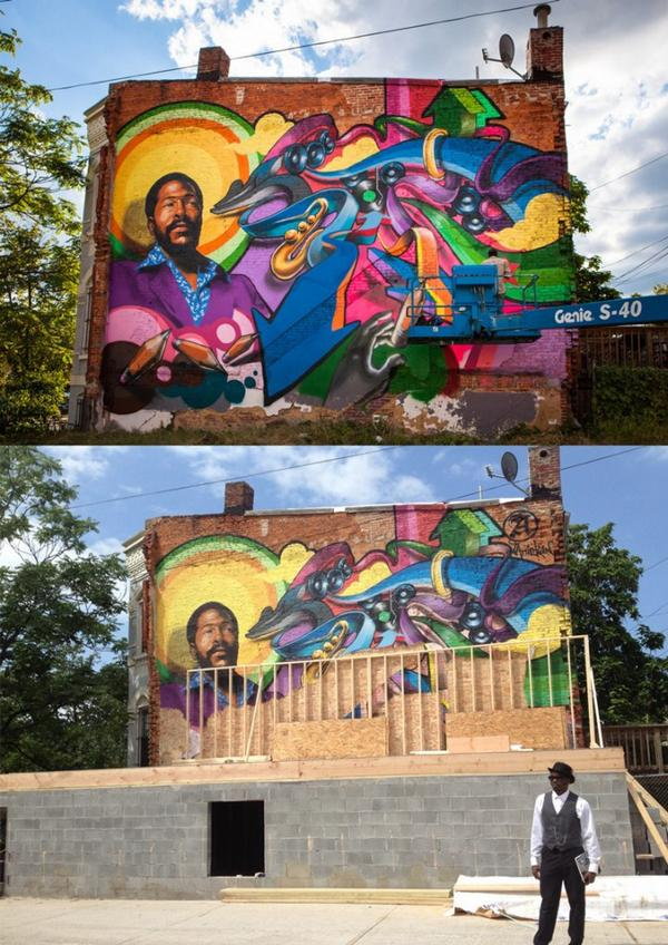 Remember this Iconic Marvin Gaye Mural in #ShawDC? Its now hidden behind a new home. Details @ http://t.co/vSmmDLfwKB http://t.co/BLMnJFNBOV