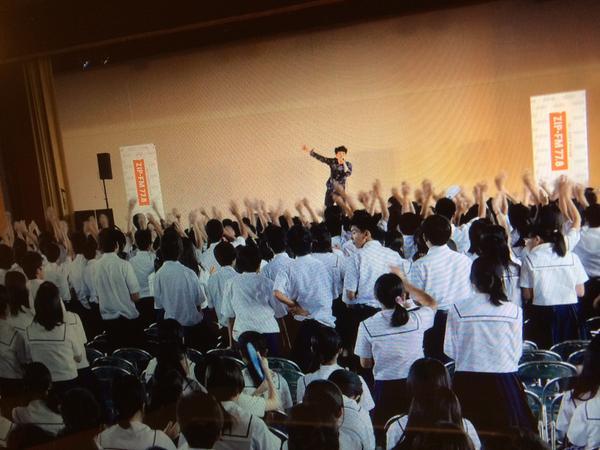 本日のMASHは、ラジオ学校訪問企画に参加してまいりました!春日井東高校の皆さんお世話になりました! ZIP-FMでは、この収録の模様を10/6(月) 21:25~21:45にオンエア予定。チェックしてね! http://t.co/F0b79lvDsO