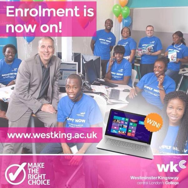 Still time to enter our #win a laptop #competition @Westking. RT & follow to enter http://t.co/BaHzJN5Tyg #enrolment http://t.co/IrqOCZRt8H
