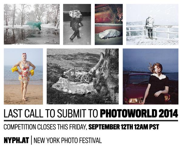 #PhotoWorld2014 ENDS THIS FRIDAY! Submit NOW: NYPH.AT http://t.co/LxtbU0pPRc