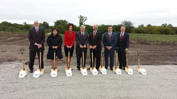 Groundbreaking of Iowa State economic development core facility in Ames, IA