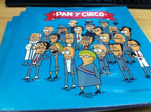 """[Concurso] RT y estás participando por el libro """"Pan y circo"""" de @Malaimagen, sorteo hoy a las 17:30 horas http://t.co/INLPtosJsr"""