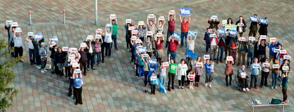 Okay so we did a thing earlier. #indyref #yes @YesGovan http://t.co/iMeX354kmz