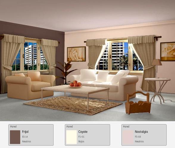 Comex on twitter para una sala cl sica una combinaci n for Colores de pintura para sala