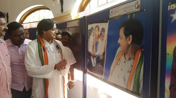 See @ShashiTharoor tweeting a photo of @ShashiTharoor looking at a photo of @ShashiTharoor looking at @ShashiTharoor http://t.co/GcyLIWQnmu