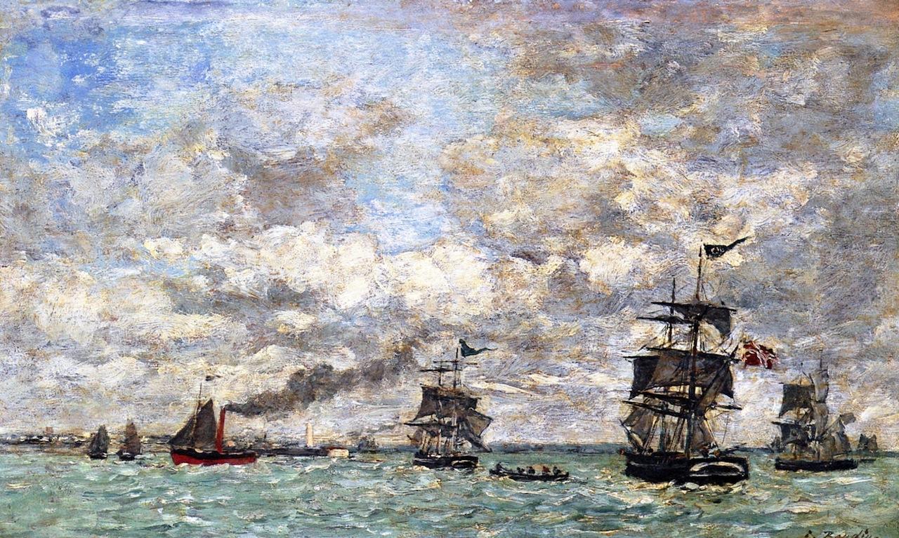 Antwerp, Boats on the Scheldt