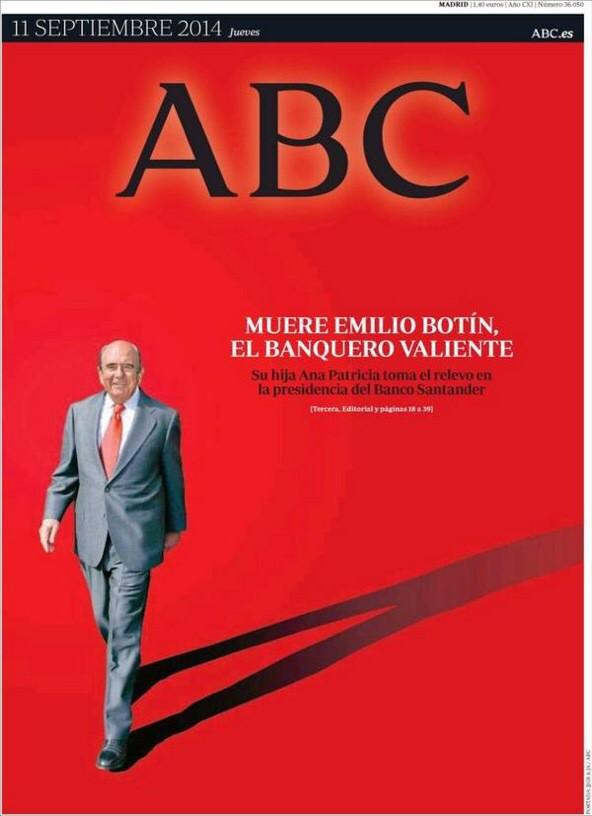¿Time? ¿Putin? No. ABC. Botín.  #Periodismo http://t.co/GUuReVXJTP
