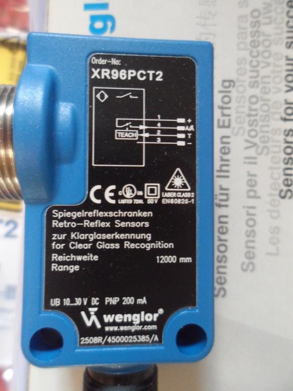 Wenglor xr96pct2 spiegelreflexschranken retro-reflex sensors
