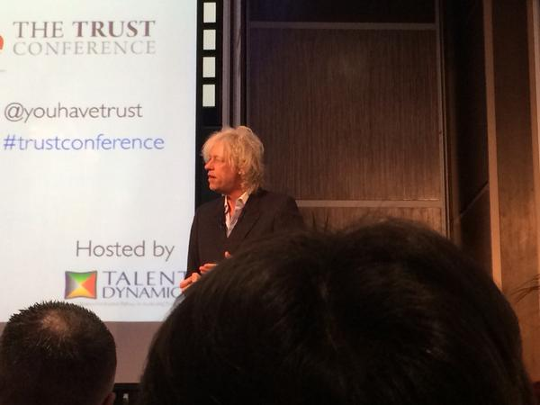 #trustconference. Sir Bob Geldoff absolutely stunning and captivating a full house. http://t.co/1DjRvtgjq1