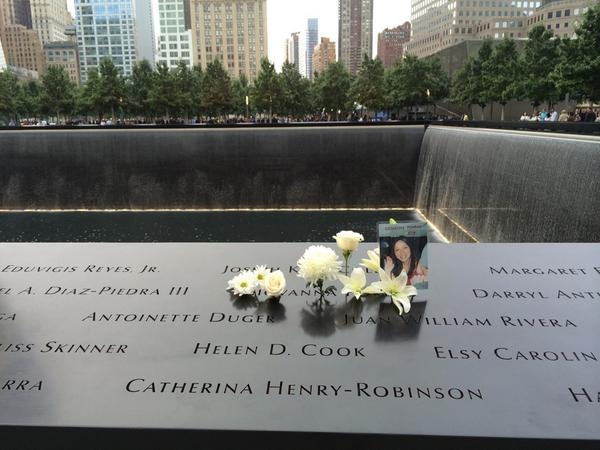 Many family members have left tributes on the panels of the #911Memorial before the start of the names reading. http://t.co/Thr7n4gne8