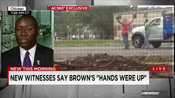"""Damning tape in #MichaelBrown shooting. Brown family atty @attorneycrump asks """"what more do you need"""" to indict PO? http://t.co/QU38G5Sg3e"""