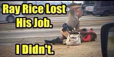 Officer filmed beating a 51 year old woman on the side of the road, where's the uproar? http://t.co/GY98g8w7Ap