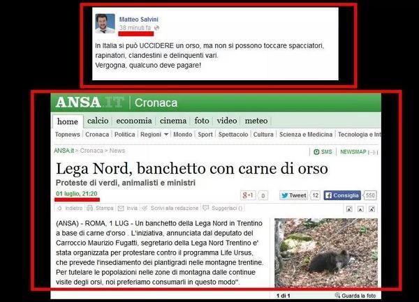 Non dite a @matteosalvinimi che mentre si indigna per #Daniza, a Trento la Lega Nord era solita organizzare questo http://t.co/vTXvB6sEqd