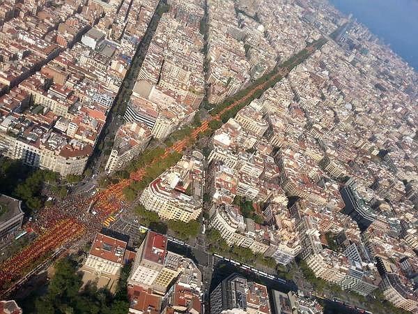 La Diagonal #Barcelona a les 17.14h  #11SDesDeBaix via @occupybarcelona Olé! http://t.co/enHqzKttU6
