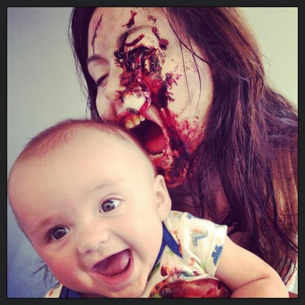 Jessica Chobot On Twitter Baby Nugget And Zombie Mommy Todays