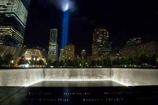 Starting at 6:00 p.m, the #911Memorial will open to the public for a special viewing of #TributeInLight. #Honor911 http://t.co/RVlK9tA8kX
