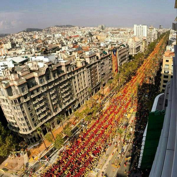 Is it clear enough? Barcelona; 1'8 million people demanding to vote on independence #CatalansVote9N http://t.co/Nym1BZTaKx