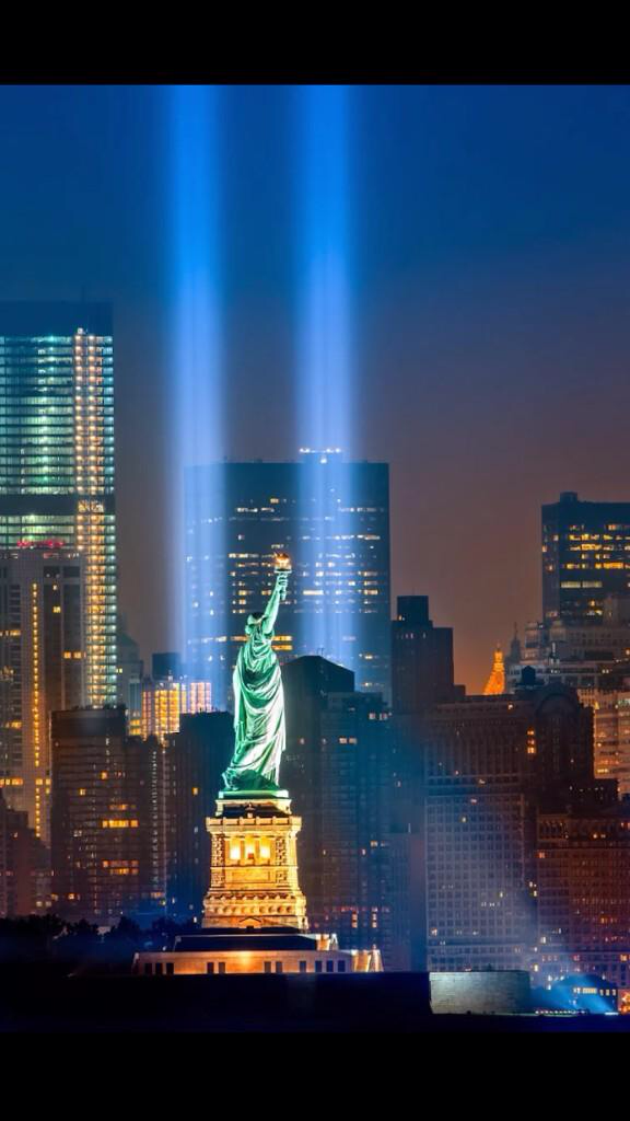 This annual lighting tribute in #NYC is beautiful http://t.co/dwcVEi0ZTt