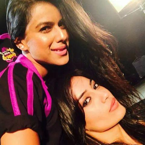 Photo of Nia Sharma & her friend  Surbhi Jyoti