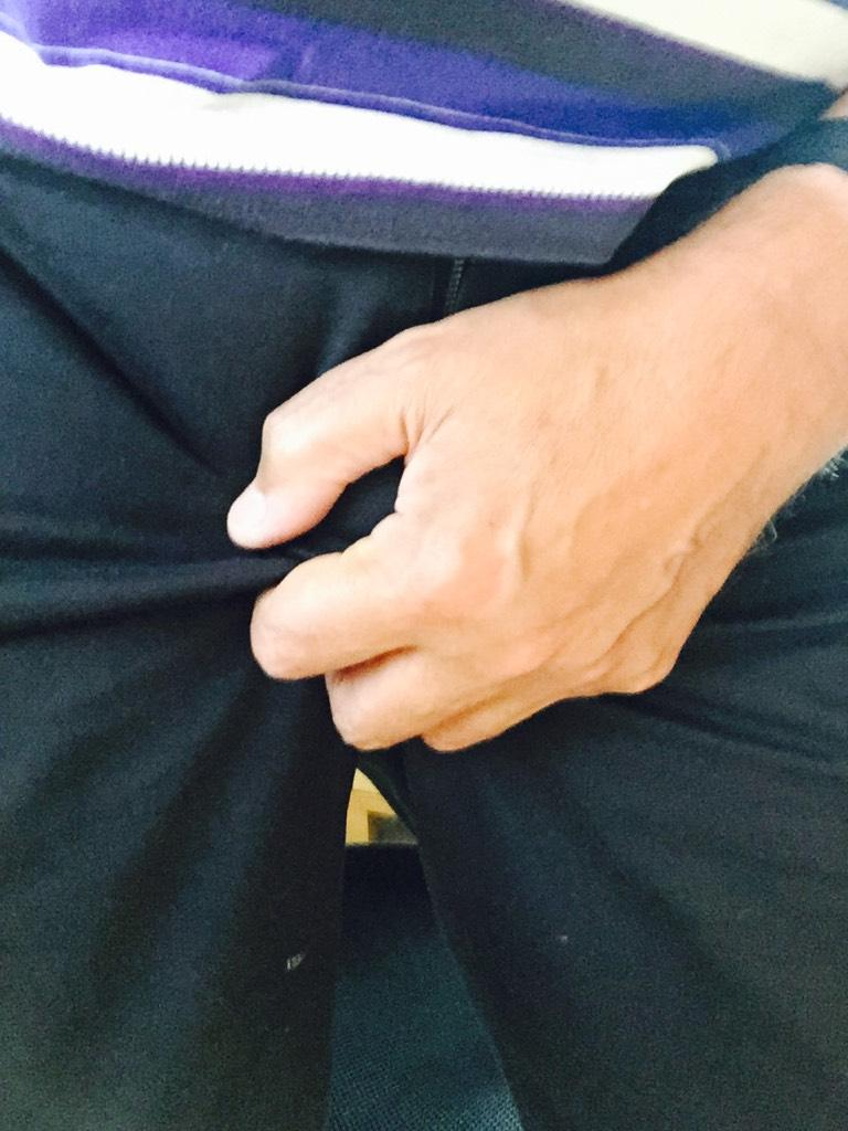 I'm #Feelingnuts with @check_one_two. I challenge @alandavies1, @wossy & @jackwhitehall to top my crotch grab! http://t.co/IP6QMFp7wV