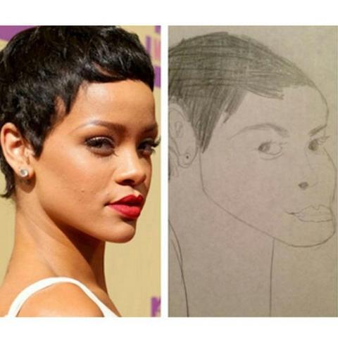 """Dylan Haegens on Twitter: """"Fan art van Rihanna. Ik heb ..."""