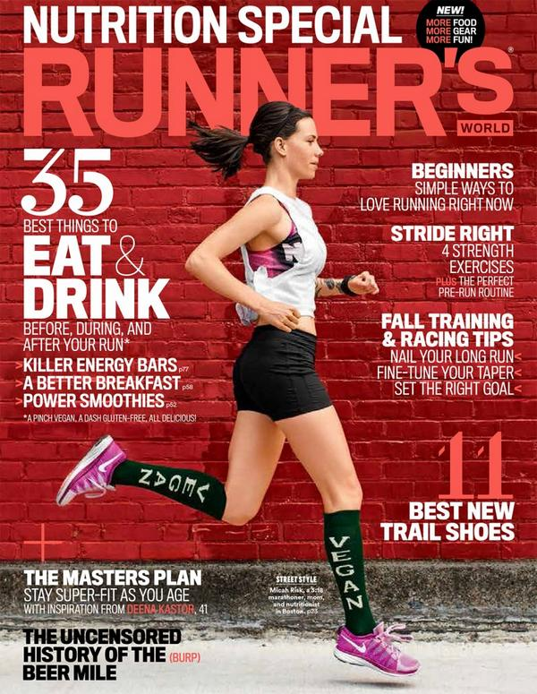 Who's that in the 'Vegan' Socks on the Cover of @runnersworld? New podcast! http://t.co/mdl1uF4Nef @lighterculture http://t.co/i4DnBaT39C