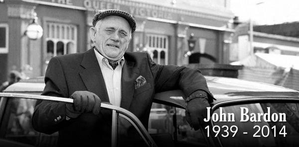 Tonight's #EastEnders will be dedicated to the hugely talented and greatly-loved John Bardon. http://t.co/dfUpFm5Q9y http://t.co/PRO0QEYaca