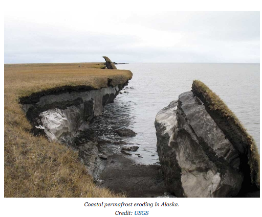 As Arctic permafrost melts soil is eroding. 55% of soil carbon reacting to form CO2: http://t.co/TMiz9G85bj #climate http://t.co/6TeBF9tIXr