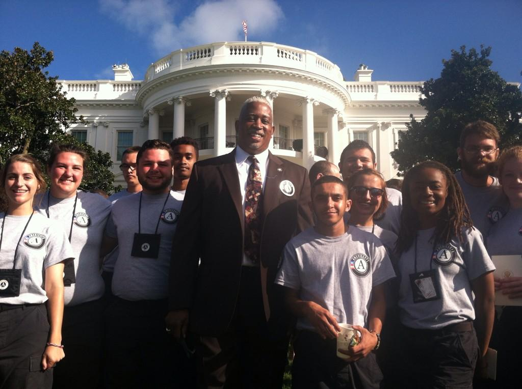 americorps nccc on twitter national director jose phillips nccc members from the atlantic region celebrating americorps20 at whitehouse
