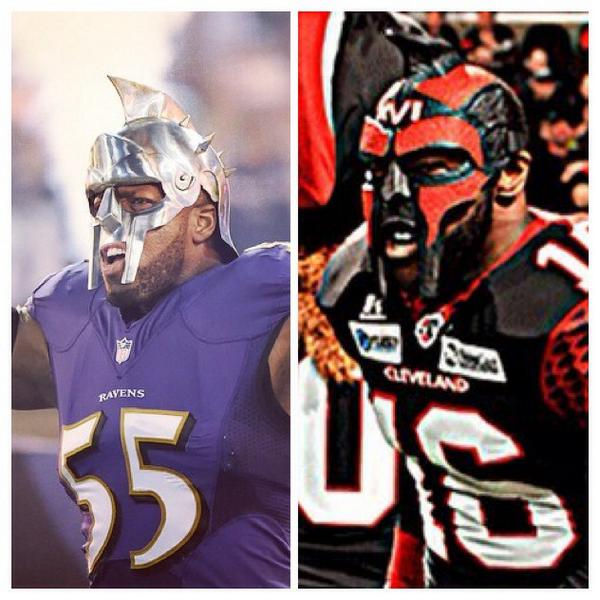 #lowkey #saltd that #TerrellSuggs took my #swag #itslife but who mask is better? http://t.co/L3pwVe6lAx