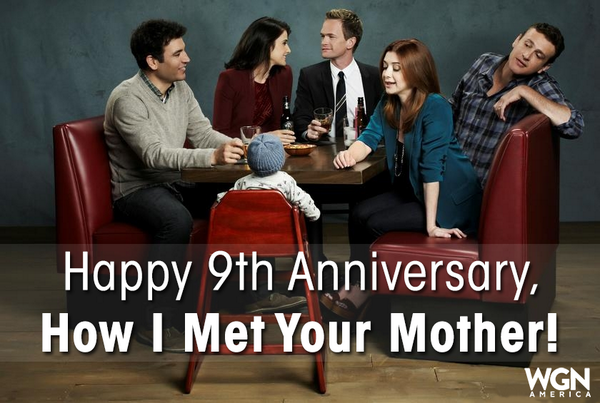 9 years ago, the first #HIMYM episode premiered. RT this to celebrate the legendary series! http://t.co/Jyf5kHg1ch