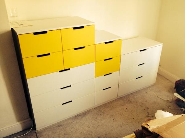 flat pack dan on twitter ikea nordli installation in. Black Bedroom Furniture Sets. Home Design Ideas