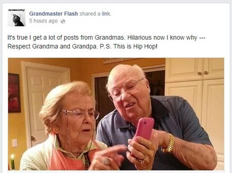 So... A LOT of grandmas accidentally tag Grandmaster Flash in Facebook posts. So much lol. http://t.co/OyhqYqTkYK http://t.co/HKEk82fuV3