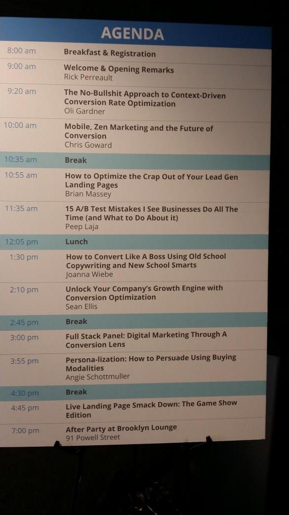 "Next up? ""How to Optimize the Crap Out of Your Lead Gen Landing Pages"" by @bmassey #CTAConf http://t.co/20ld91RMW2"