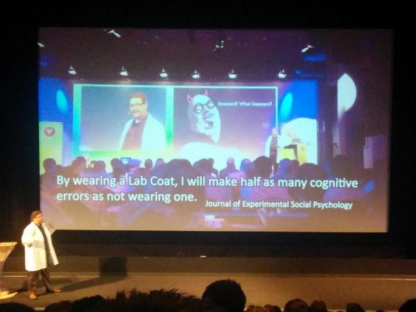 Note to self - get a lab coat. ASAP. Lead gen landing page optimization. #CTAconf @unbounce  @bmassey http://t.co/6uHe0VytZX