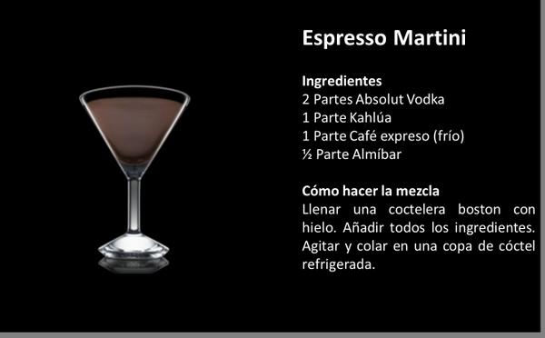 Espresso Martini: Absolut Vodka + Kahlúa + Café + Almíbar #TipsAbsolut http://t.co/QjOgUY3ePG