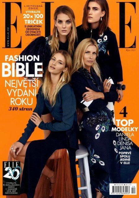 RT @nicolasvillar12: Daniela Pestova- Linda Vojtova- Denisa Dvorakova &  Jana Knauerova » @ELLECZ Oct2014 issue #CoverModels http://t.co/Ic…