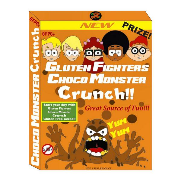 The Gluten Fighters have created a great cereal to help power their action suits to defeat The Glutants #cerealbox http://t.co/xdGmNZaOcp