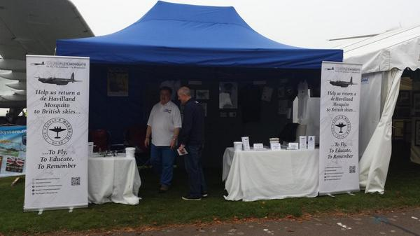 All set up at Duxford @PeoplesMosquito http://t.co/myIrAedMJI