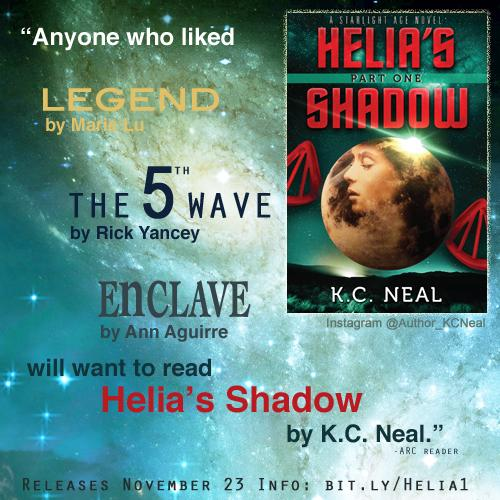 Any1 who liked Legend by Marie Lu, #The5thWave by Rick Yancey Enclave by Ann Aguirre will want to read Helia's Shadow http://t.co/wQKv0wXZdp