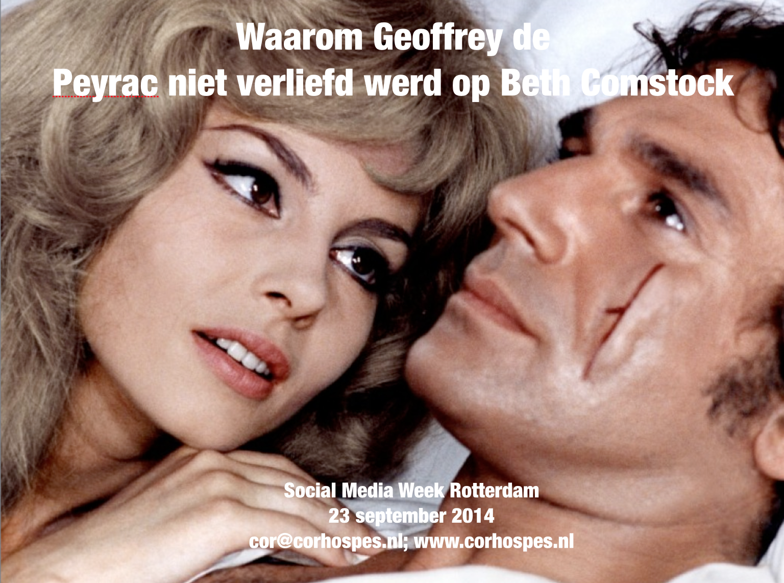 Titel lezing volgende week dinsdag @SMWRotterdam. Ben jij er ook? http://t.co/C01g0lOSTV