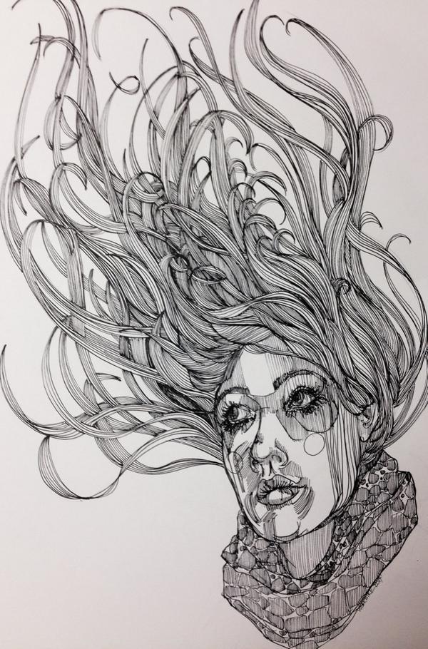 drawn hair drawnhair twitter