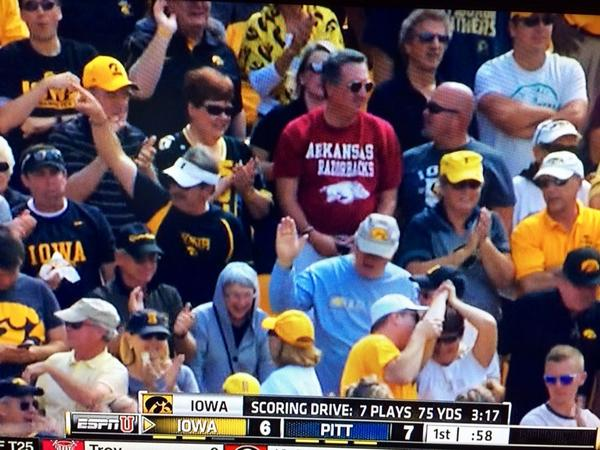 We're going to Iowa vs Pitt? Great! Let me grab my Arkansas Razorbacks shirt. http://t.co/9MfL3GEOnz