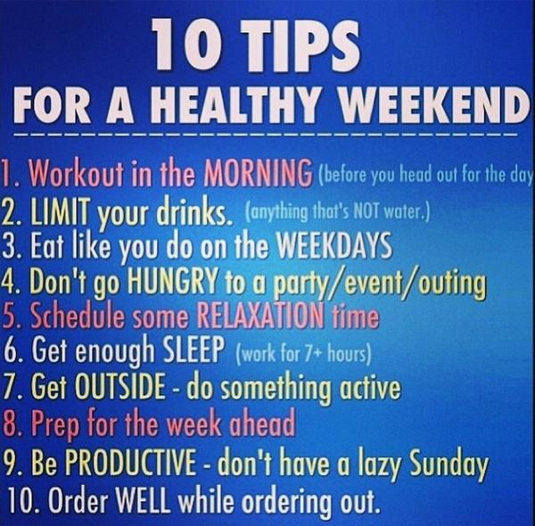 weekend tips