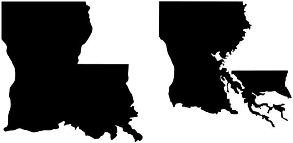 The actual map of Louisiana, without denial: https://t.co/3MUtBFqKpk http://t.co/U7kdXAs63B