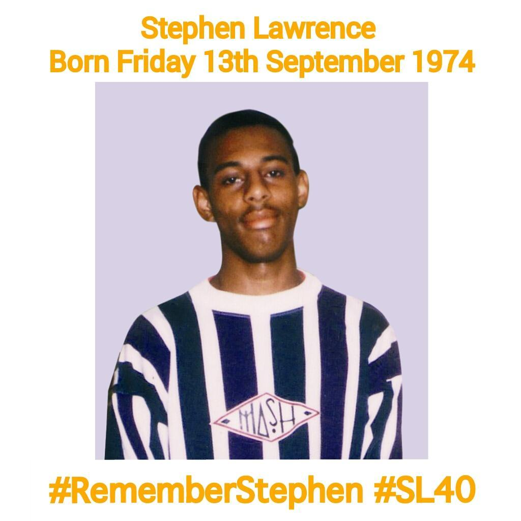 RT @BD_Lawrence: Stephen would've been 40 today. @S_LawrenceTrust transforms lives for others to achieve their dream. #StephenLawrence http…