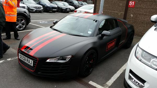 R8 car - Color: Black  // Description: charming