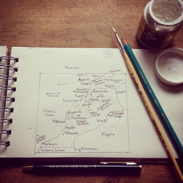 Planning a September adventure (I had to start using paint for white-out: it's 'Fès' not 'Fés') http://t.co/BsQo6WQHfs