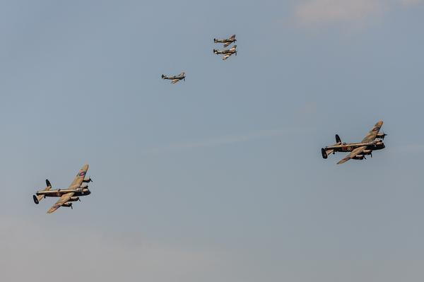 The Lancasters are now overhead! #GoodwoodRevival http://t.co/ciADpeJlCi
